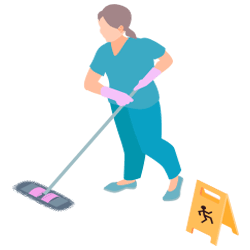 Visual cleaning path